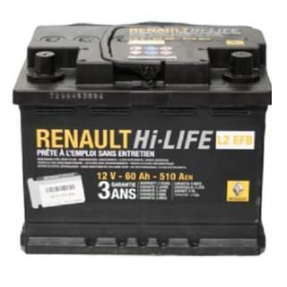 Baterie auto Renault 60 Ah 510 A(EN) 12V EFB Start/Stop