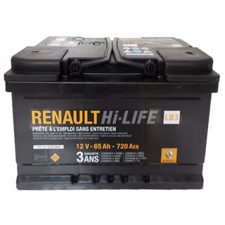 Baterie auto Renault 65 Ah 720 A(EN) 12V